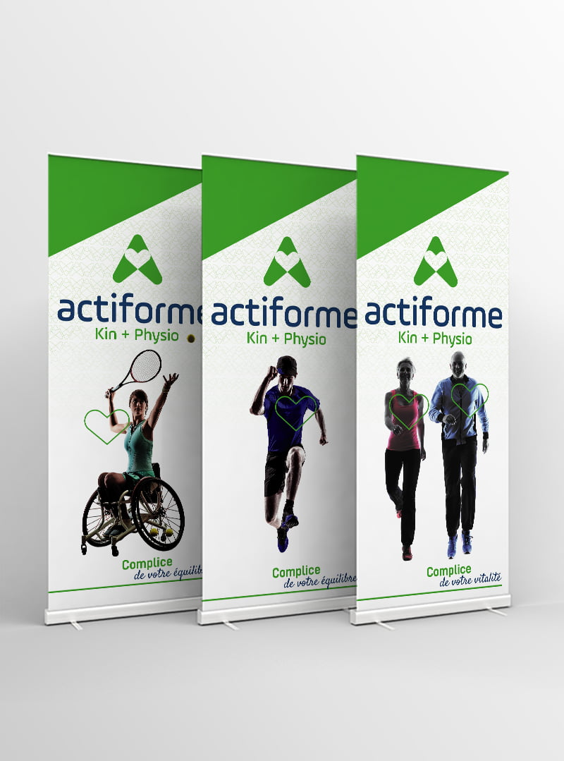 Conception graphique roll-up Actiforme