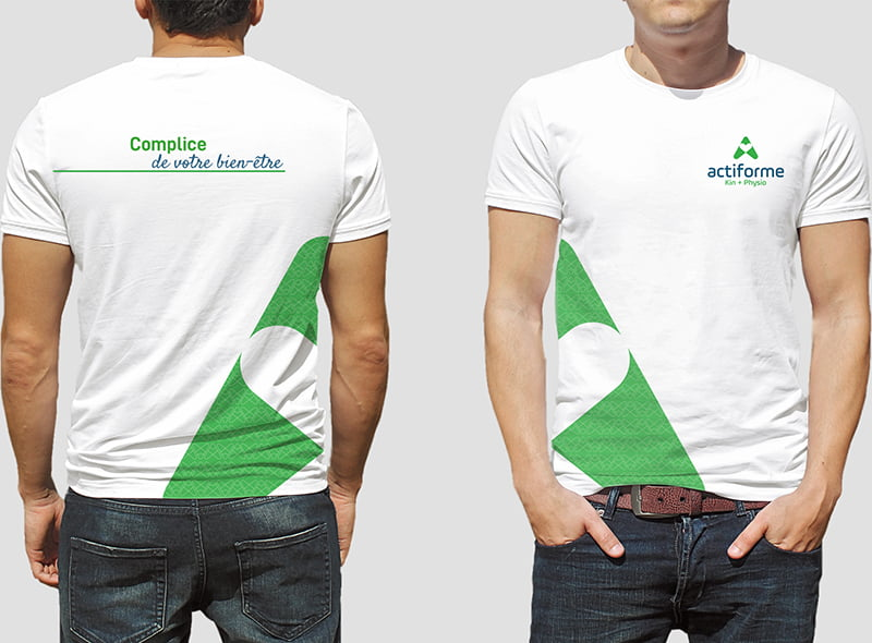 Conception graphique T-shirt Actiforme