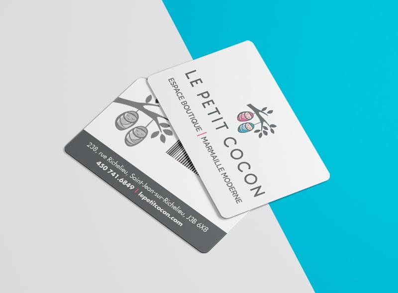 Conception graphique carte cadeau Petit Cocon