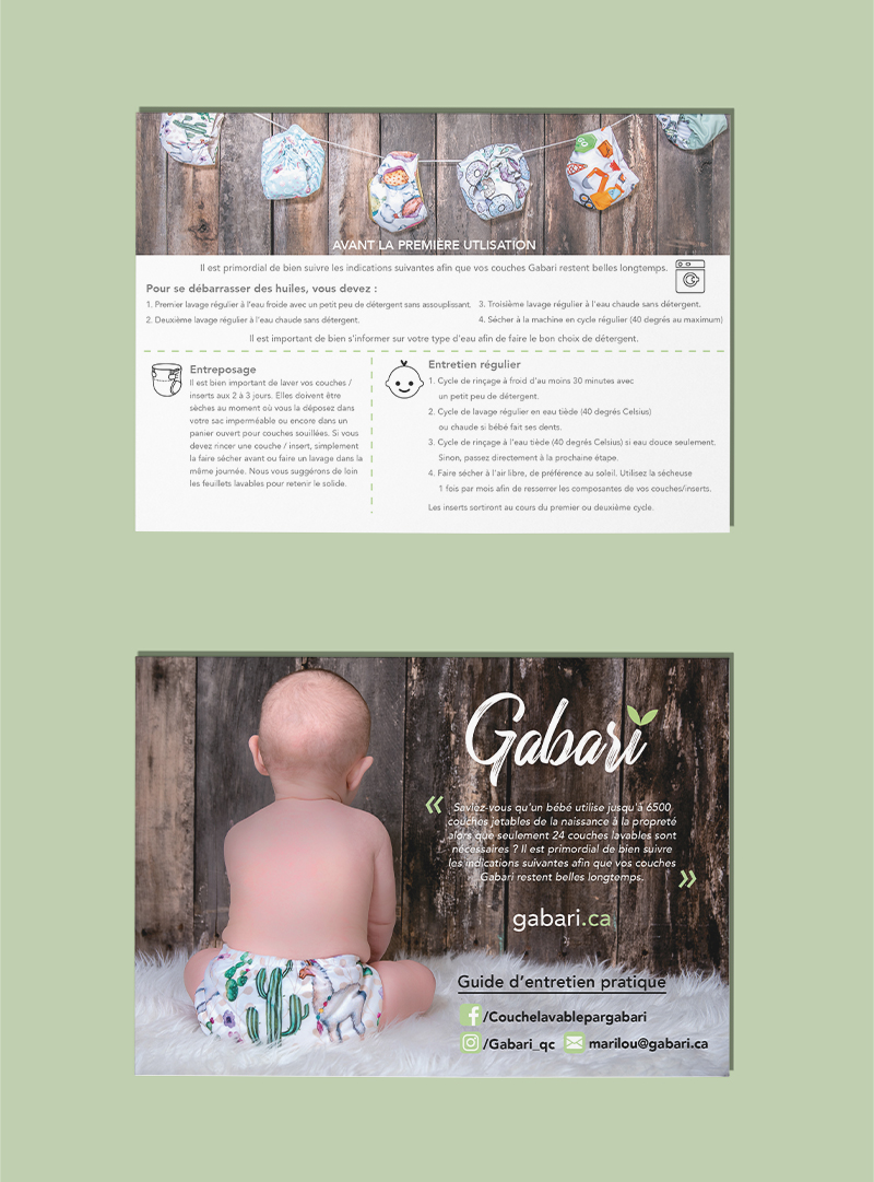 Conception graphique carte postale Gabari