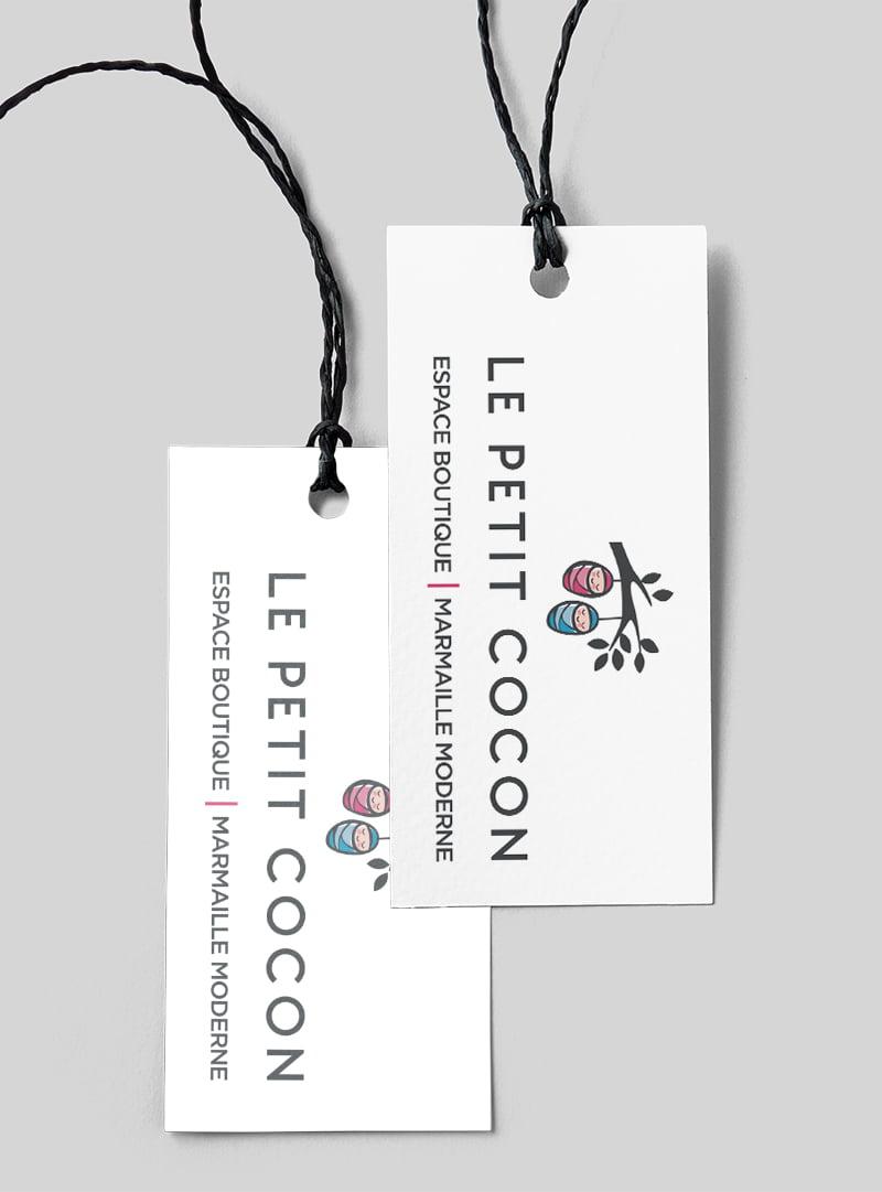 Conception graphique étiquette Petit Cocon