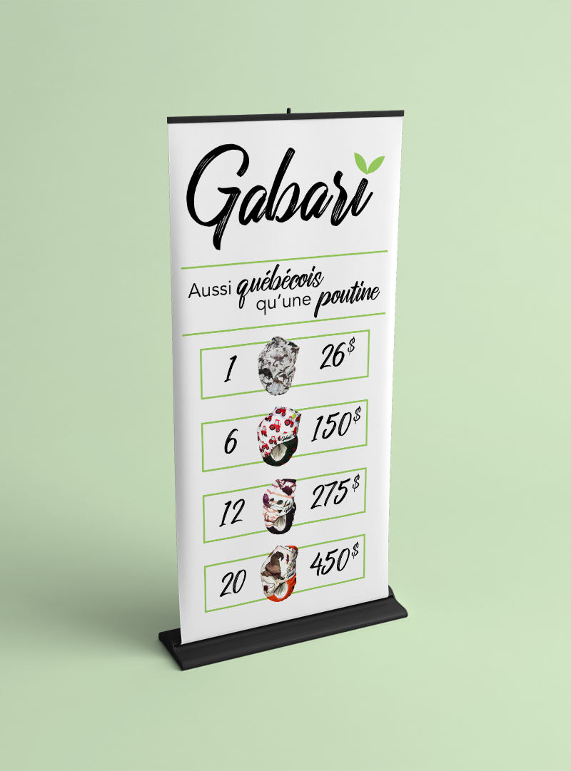 Conception graphique roll-up Gabari