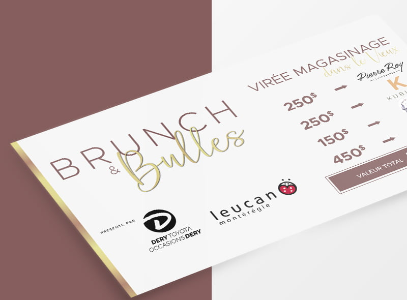 Conception graphique coupon Brunch & Bulles