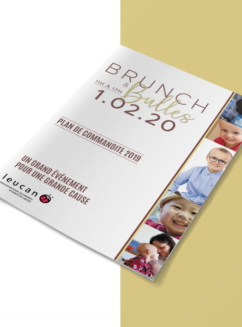 Conception graphique plan de commandite Brunch & Bulles