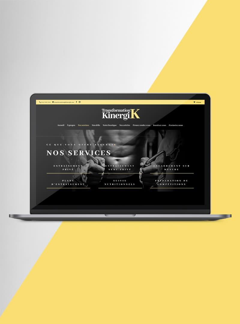 Transformation Kinergik - Création web