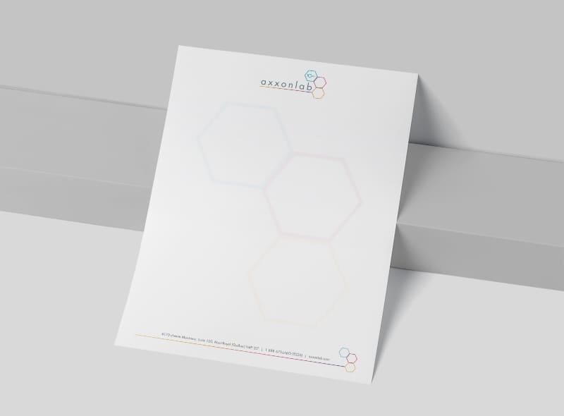 Axxonlab - Conception graphique - Entête de lettre