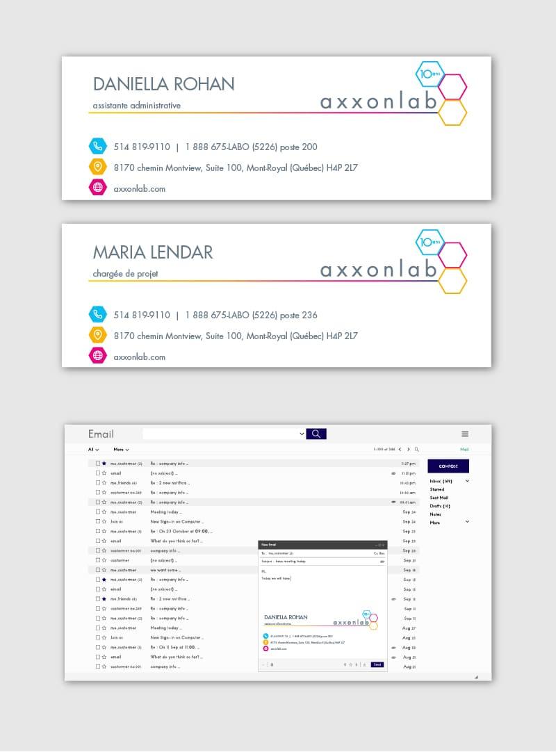 Axxonlab - Conception graphique - Signature courriel