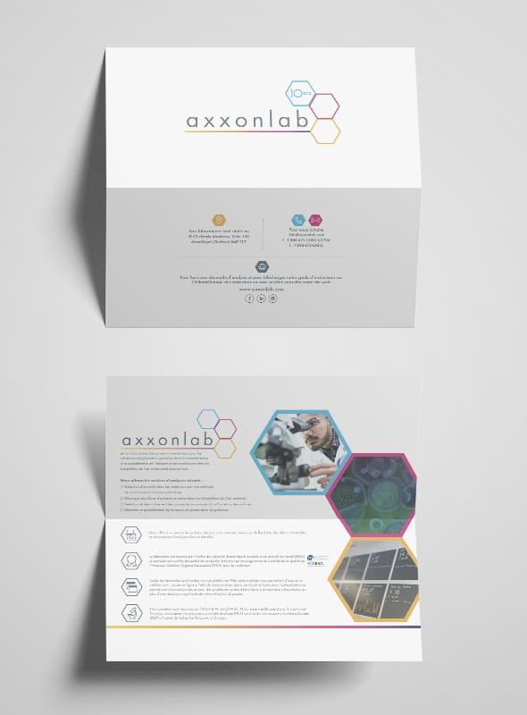 Axxonlab - Conception graphique - Dépliant