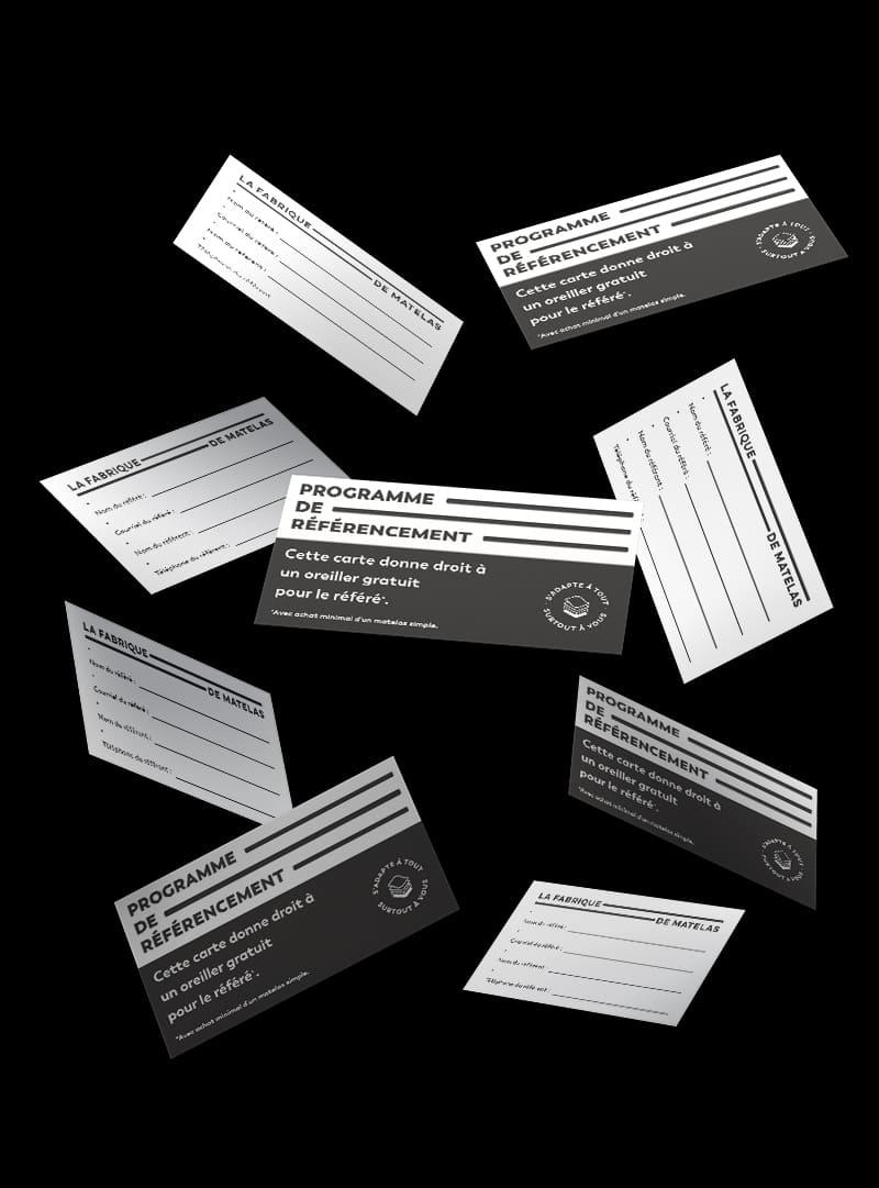 La Fabrique de matelas - Conception graphique - Carte référencement