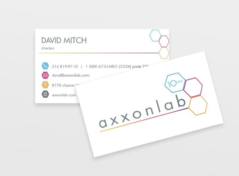 Axxonlab - Conception graphique - Carte d'affaire