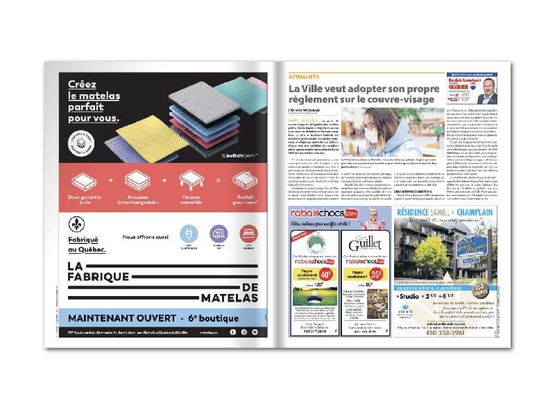 La Fabrique de matelas - Placement média - journaux
