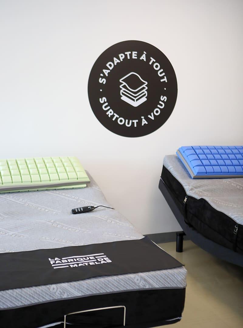 La Fabrique de matelas - Application image de marque - autocollants