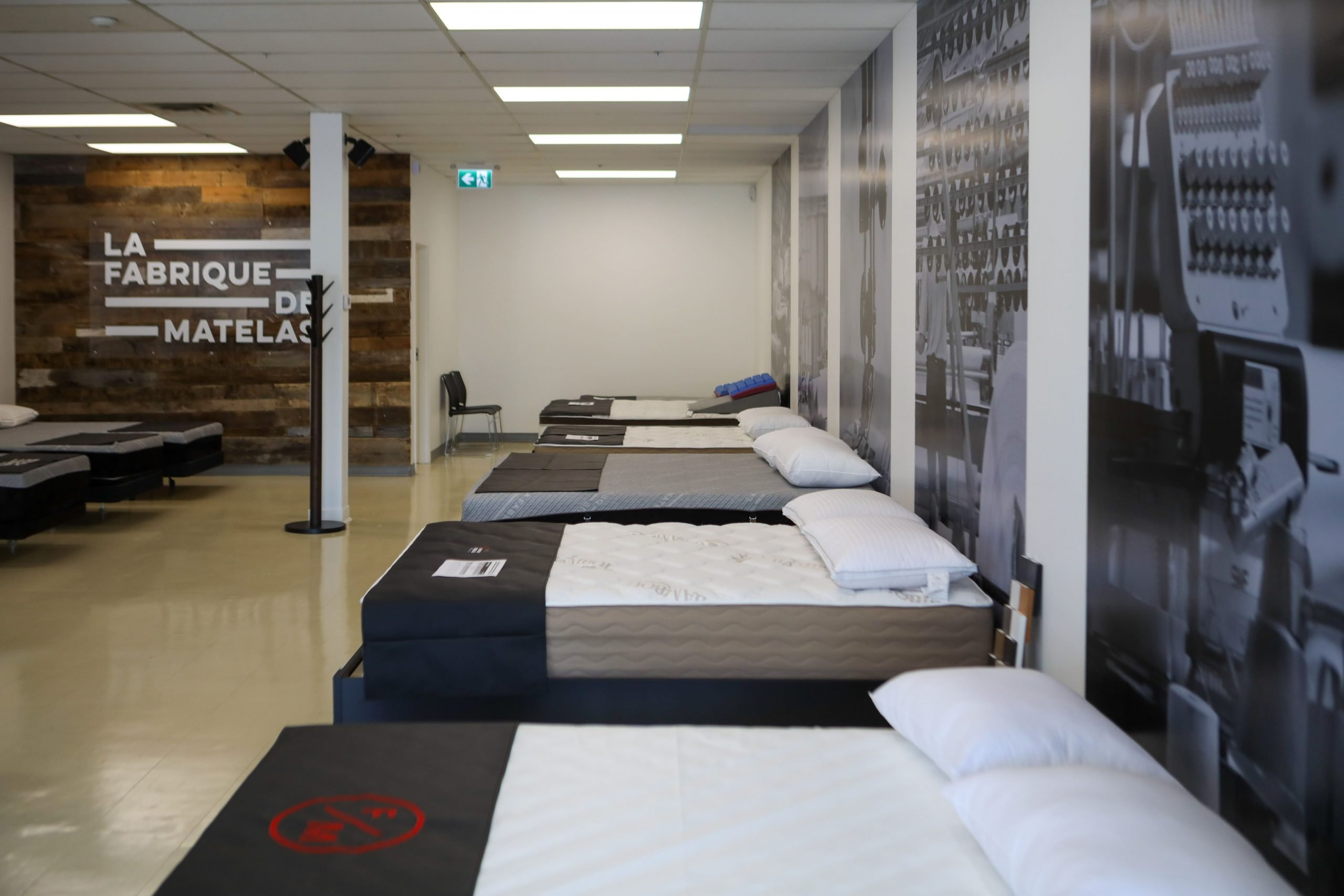 La Fabrique de matelas - Application image de marque - murales magasin