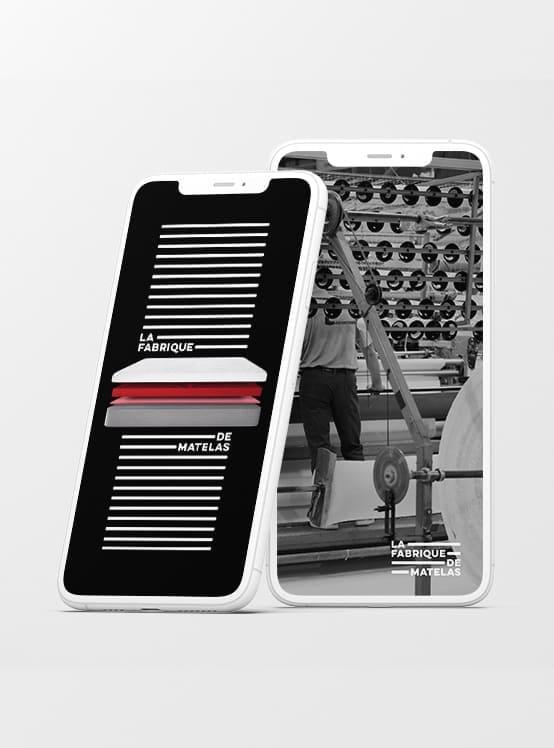 La Fabrique de Matelas - Marketing numérique -  stories instagram