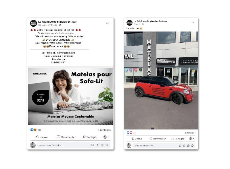 La Fabrique de Matelas - Marketing numérique - post facebook