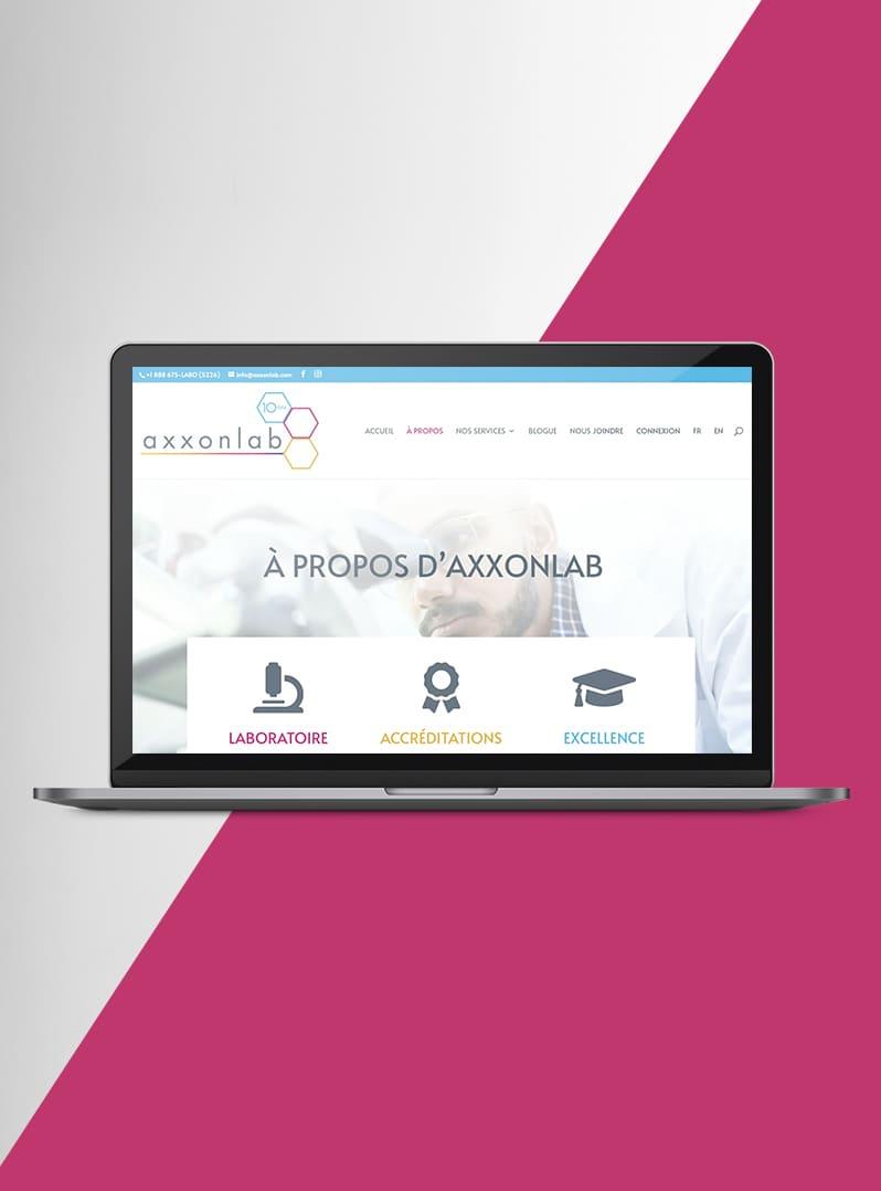 Axxonlab - Création web