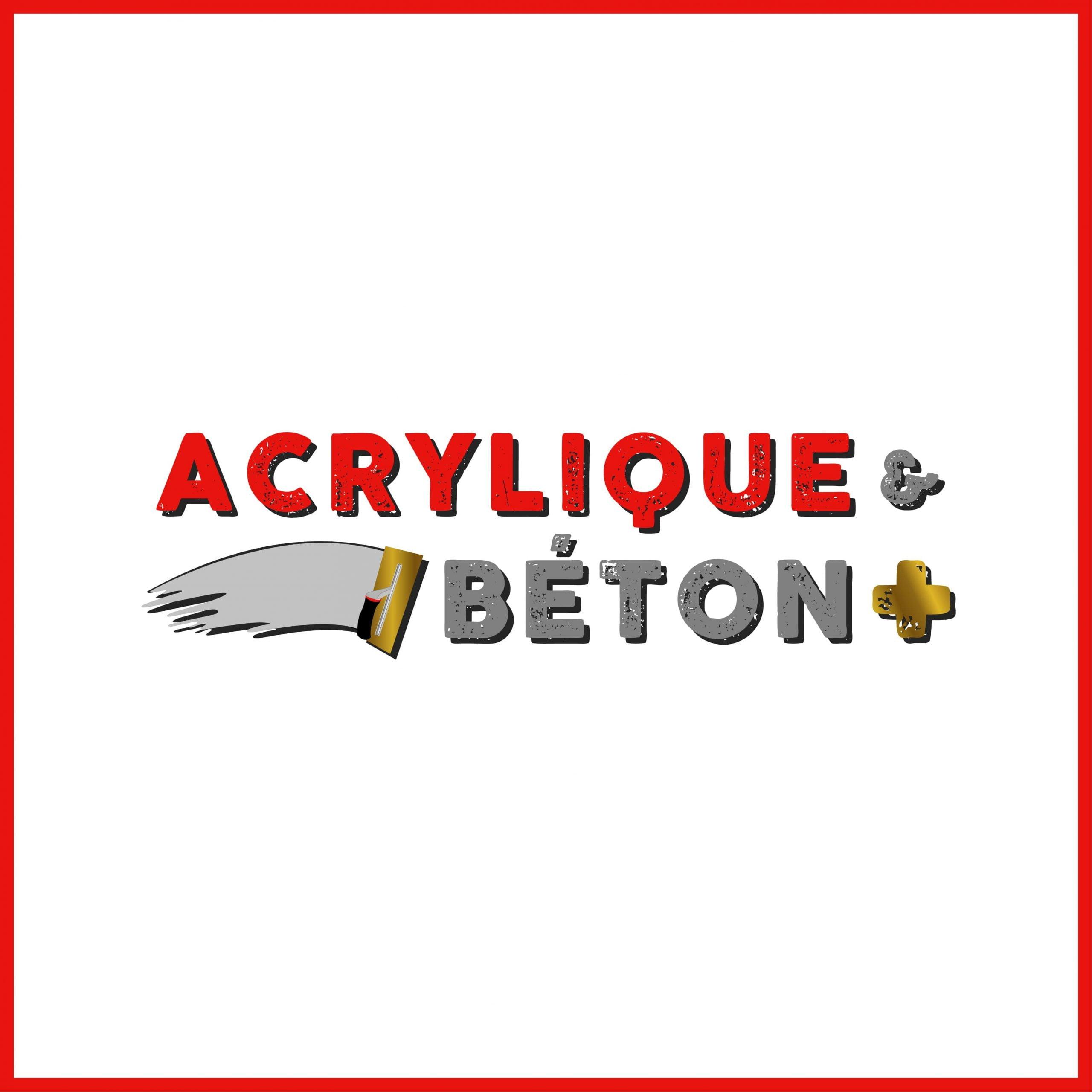 Acrylique et Béton plus - Modernisation de logo