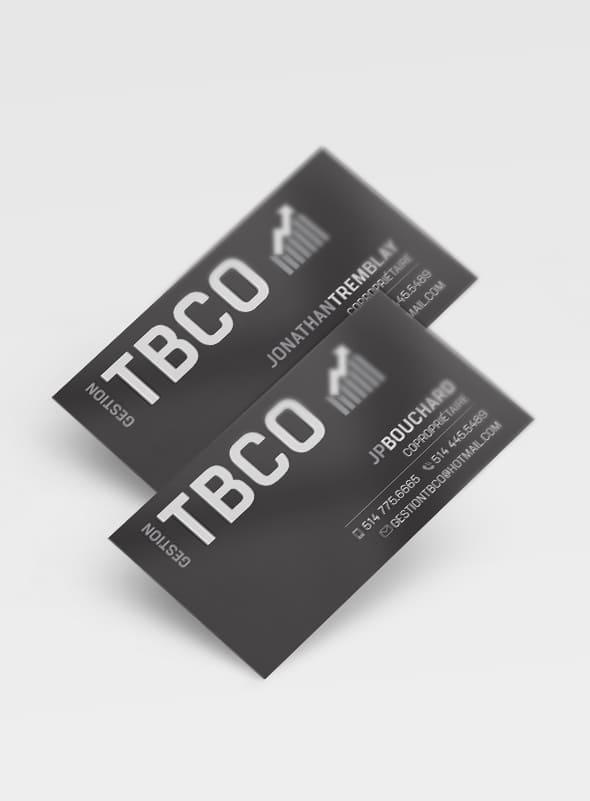 Gestion TBCO - Carte affaire