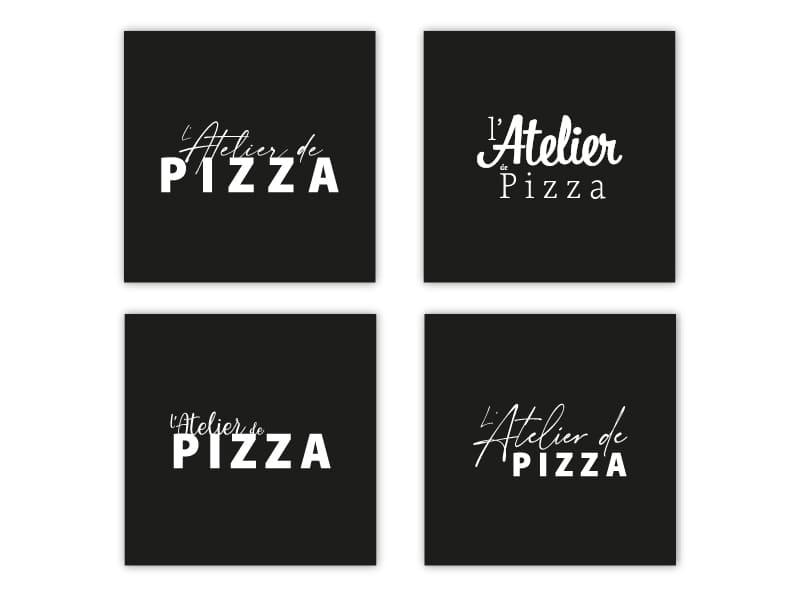 L'Atelier de Pizza - création image de marque ajustements
