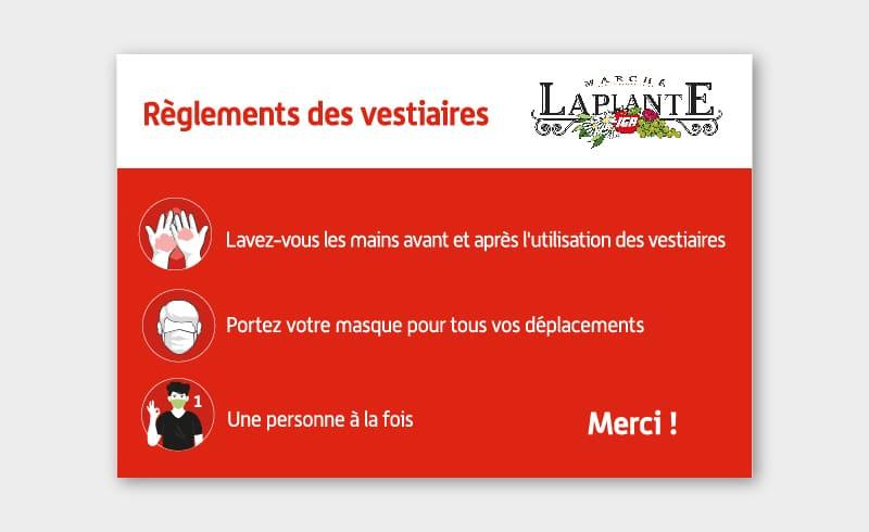 Affiche IGA Marché Laplante