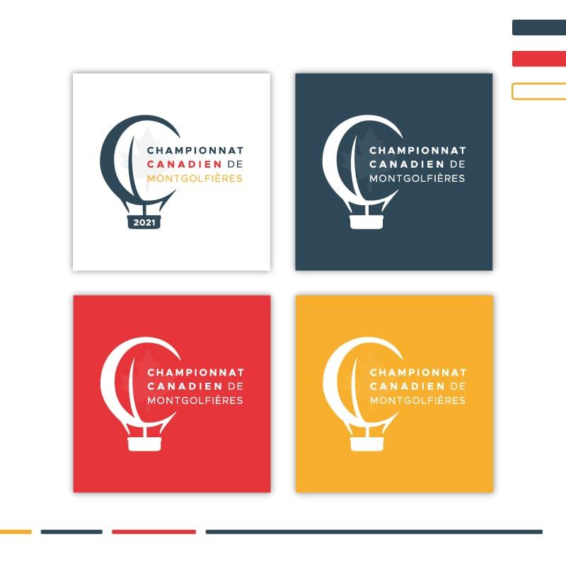 Championnat Canadien de Montgolfières - création image de marque