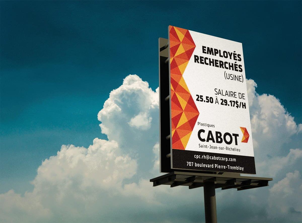 Panneau routier Cabot corporation